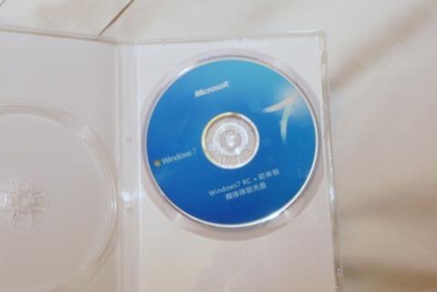 DVD do Windows 7 dentro do Box.
